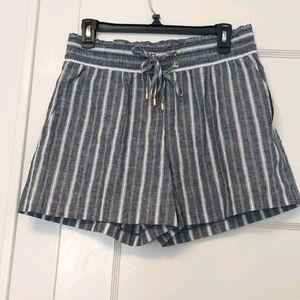 Michael Kors Linen Blend Striped Navy Short. M